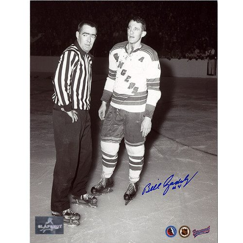 Bill Gadsby Rangers Fight Photo Signed 8x10