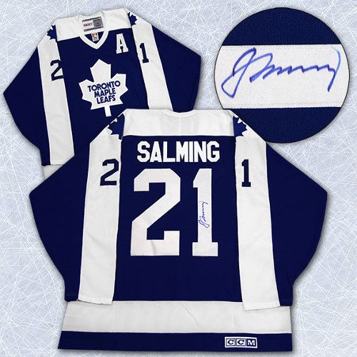 Borje Salming Toronto Maple Leafs Signed Retro Jersey