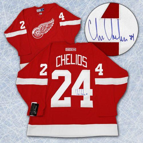 Chris Chelios Detroit Jersey Signed Retro CCM