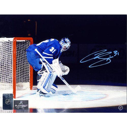 Curtis Joseph Toronto Maple Leafs Autographed Spotlight Intro 8x10 Photo