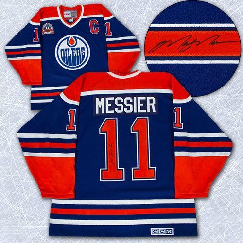 Mark Messier Jersey Edmonton Oilers 1990 Stanley Cup Signed Vintage