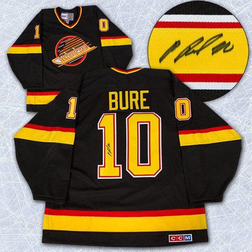 Pavel Bure Autographed Jersey-Vancouver Canucks Retro CCM Black Jersey
