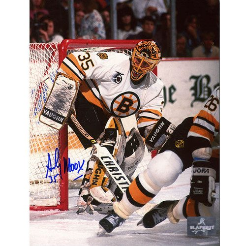 Andy Moog Autograph Boston Bruins 8X10 Photo