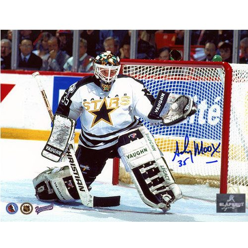 Andy Moog Dallas Stars Autographed 8X10 Photo