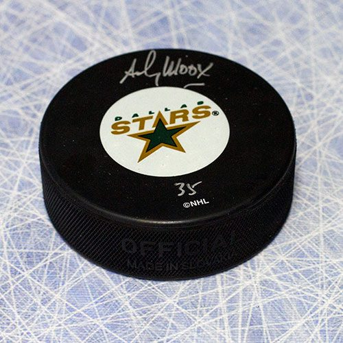 Andy Moog Dallas Stars Autographed Hockey Puck
