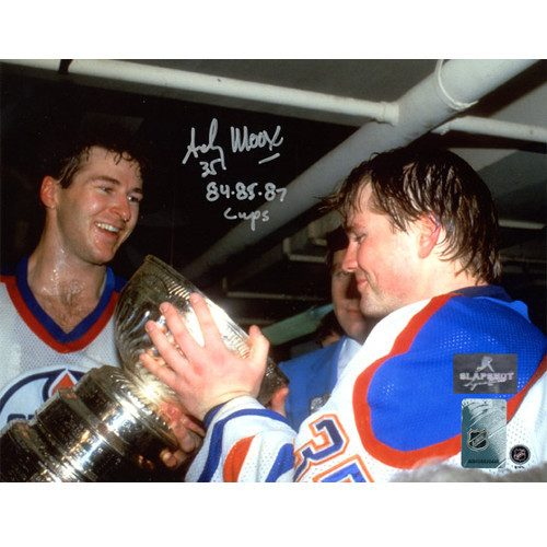 Andy Moog Stanley Cup Edmonton Oilers Autographed 8X10 Photo