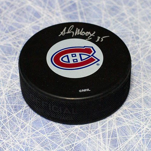 Andy Moog Autographed Puck Montreal Canadiens
