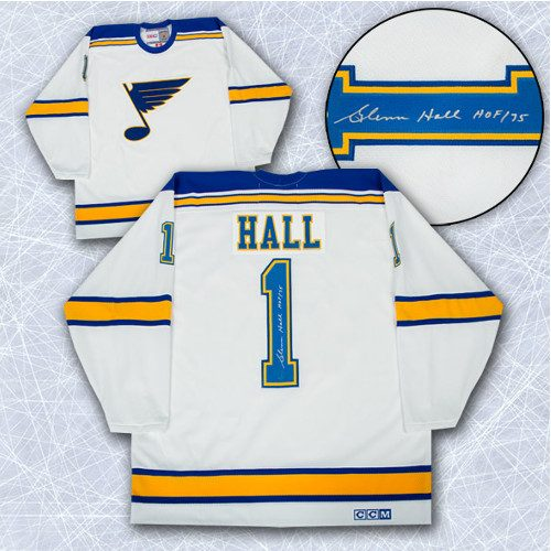 Glenn Hall Autographed Jersey St Louis Blues