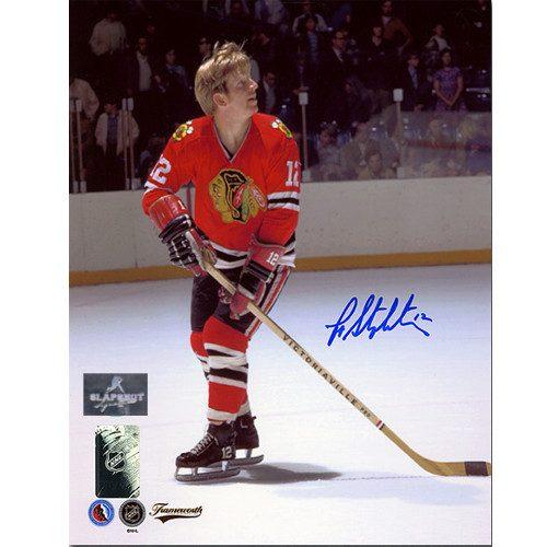 Pat Stapleton Autograph Photo-Chicago Blackhawks 8x10