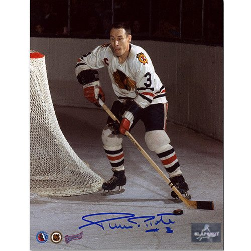 Pierre Pilote Chicago Blackhawks Autographed 8X10 Captain Photo