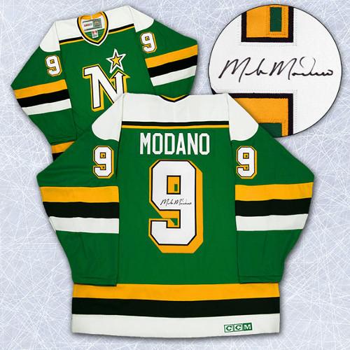 Mike Modano Signed Jersey Minnesota North Stars CCM Vintage Style 28634031cb0