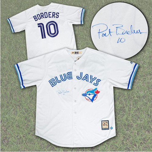 Pat Borders Jersey Signed Toronto Blue Jays with MVP Note