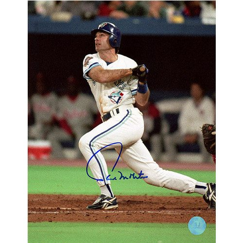 Paul Molitor Blue Jays Batting Signed 8x10 Photo