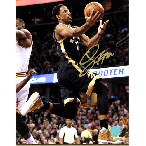 Demar DeRozan Photo Signed-Toronto Raptors 8x10 Black/Gold