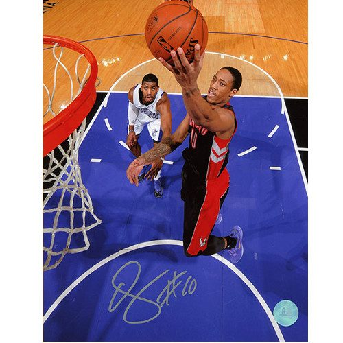 Demar DeRozan Toronto Raptors NetCam Signed 8x10 Photo