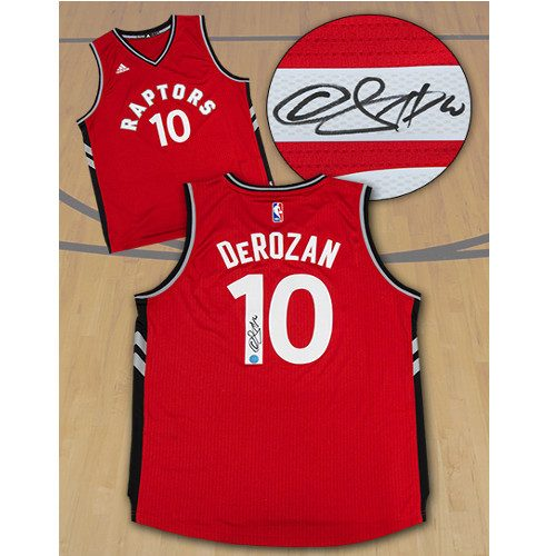 Demar DeRozan Signed Jersey Toronto Raptors Red Adidas