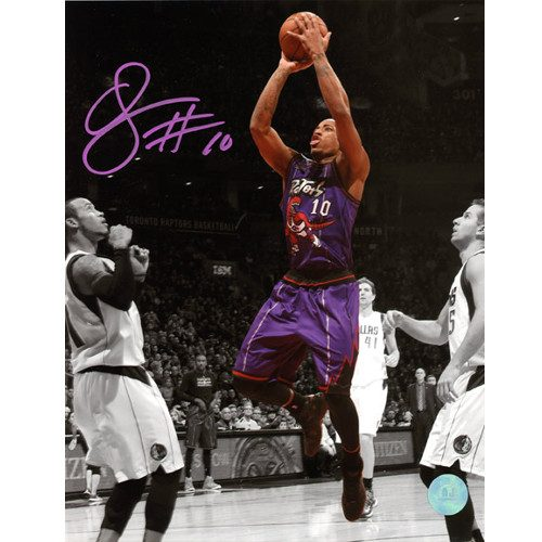 Demar DeRozan Retro Raptors Jersey Signed 8x10 Photo