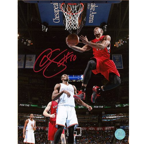 Demar DeRozan Raptors Reverse Layup Signed 8x10 Photo