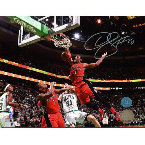 Demar DeRozan Slam Dunk Photo Signed-Toronto Raptors 8x10