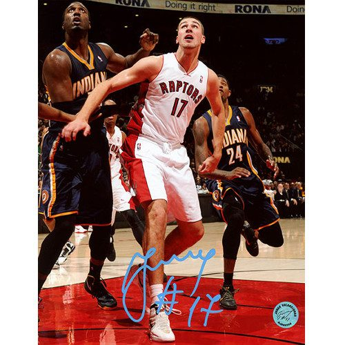 Jonas Valanciunas Rookie Season Raptors Signed 8x10 Photo