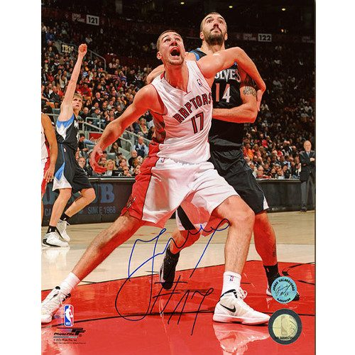 Jonas Valanciunas Toronto Raptors Action Signed 8x10 Photo