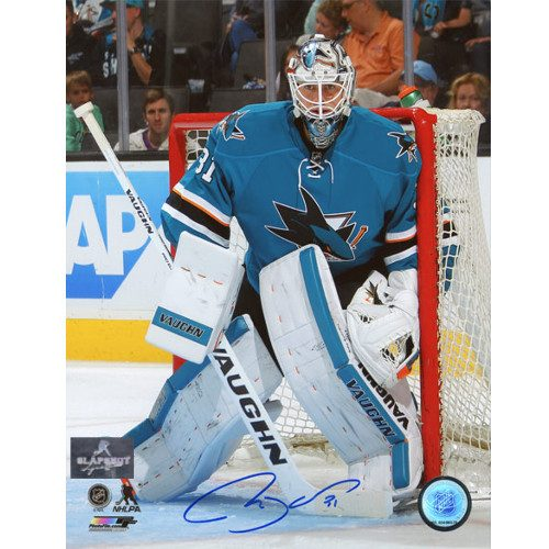 Martin Jones San Jose Sharks Autographed 8X10 Goalie Photo