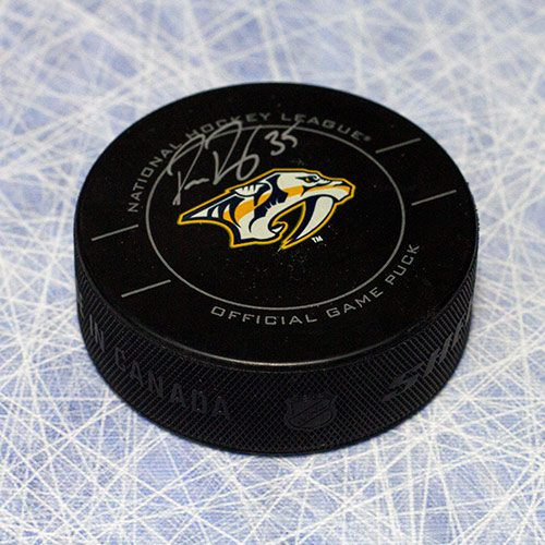Pekka Rinne Signed Puck Nashville Predators Game Puck