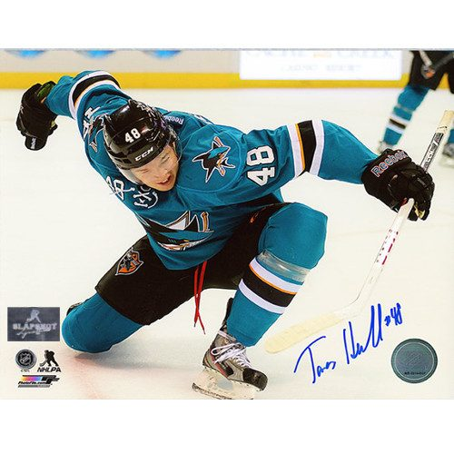 Tomas Hertl San Jose Sharks Autographed 8X10 Celebration Photo