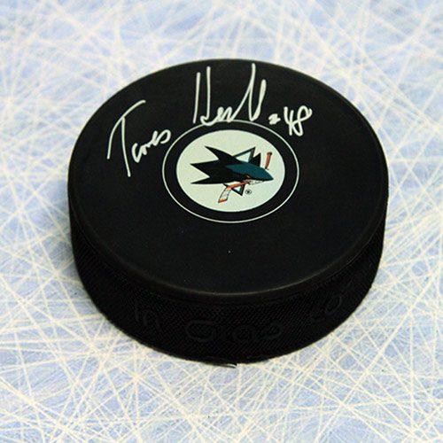 Tomas Hertl San Jose Sharks Autographed Hockey Puck