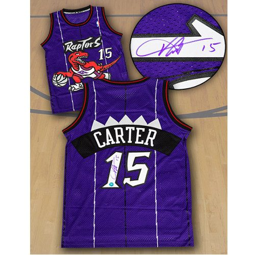 Vince Carter Signed Jersey Toronto Raptors Retro Purple