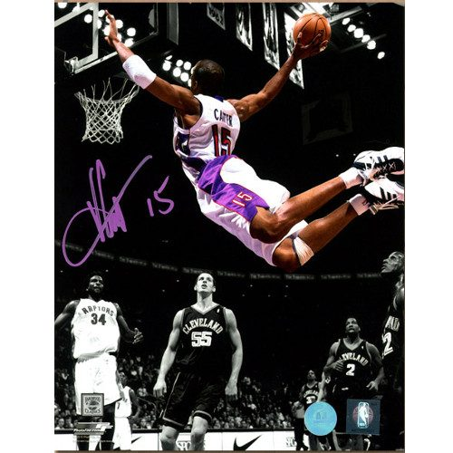 Vince Carter Raptors Signed 8x10 Photo