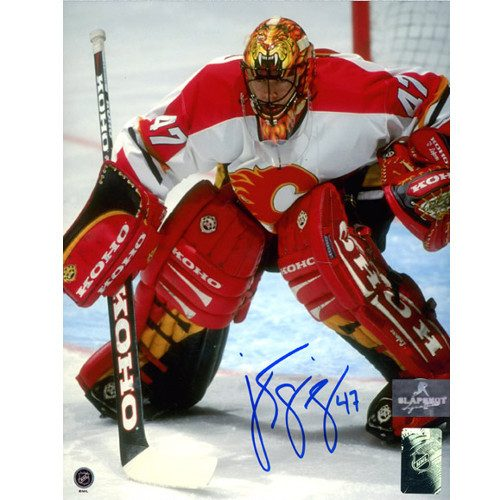 Jean Sebastien Giguere Calgary Flames Signed 8x10 Photo