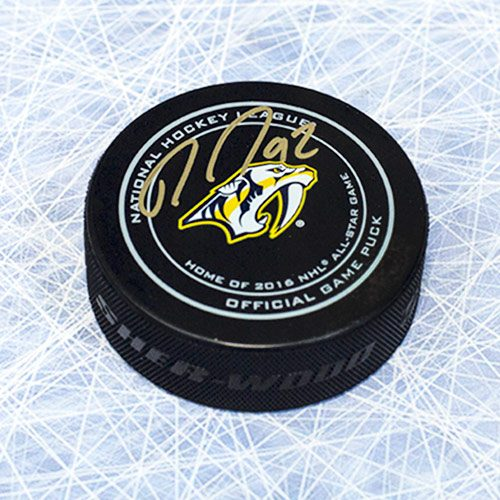 Ryan Johansen Signed Puck-Nashville Predators Official Puck