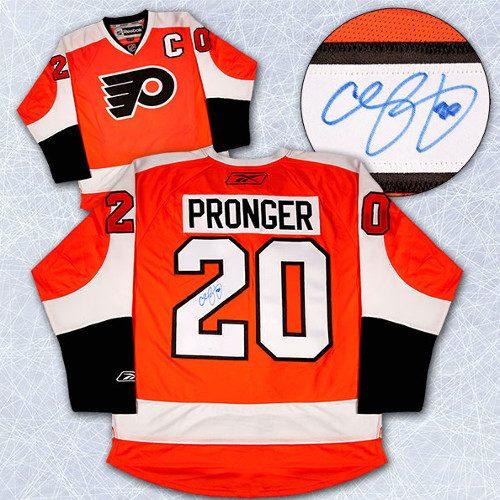 Chris Pronger Flyers Jersey Autographed