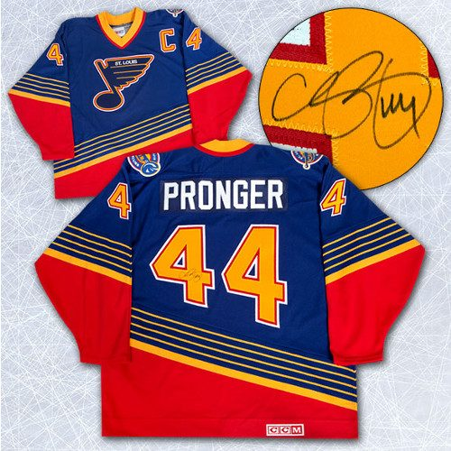 Chris Pronger Autographed Jersey St Louis Blues CCM