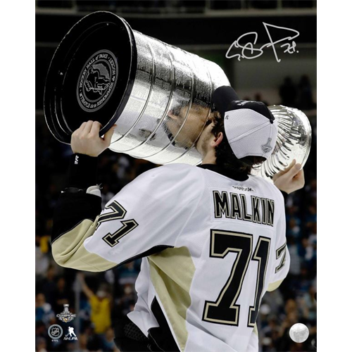 Evgeni Malkin Signed Photo Pittsburgh Penguins 2016 Cup 8X10