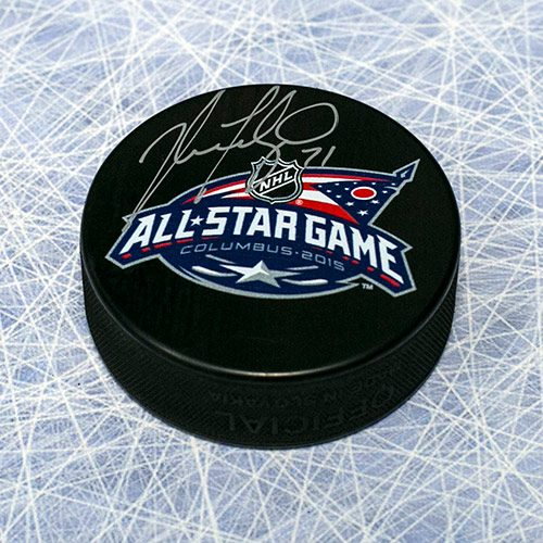 Nick Foligno All Star Game Signed Puck-Columbus Blue Jackets