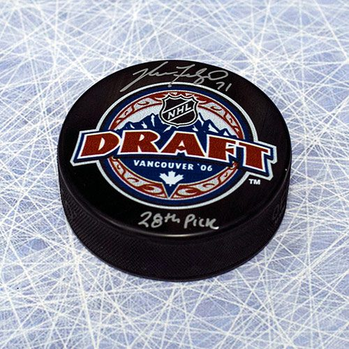 Nick Foligno Draft Day 2006 28th Pick Signed Hockey Puck
