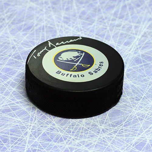 Tom Barrasso Buffalo Sabres Signed Hockey Puck