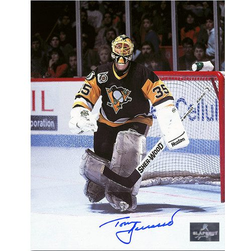 Tom Barrasso Pittsburgh Penguins Signed 8X10 Photo