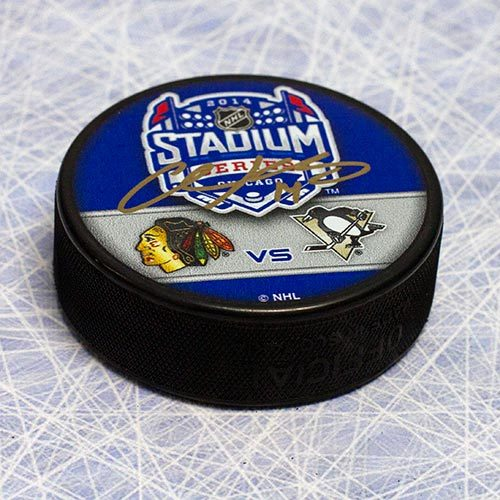 Chris Kunitz Stadium Series Penguins Signed Hockey Puck