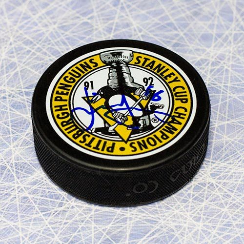 Jaromir Jagr Stanley Cup Penguins Signed Hockey Puck