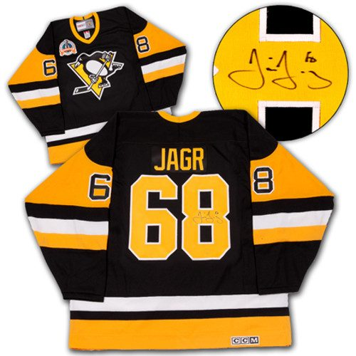 Jaromir Jagr Signed Jersey Pittsburgh Penguins 92 Cup