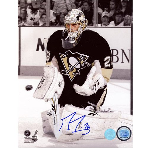 Marc Andre Fleury Photos Signed Pittsburgh Penguins 8X10