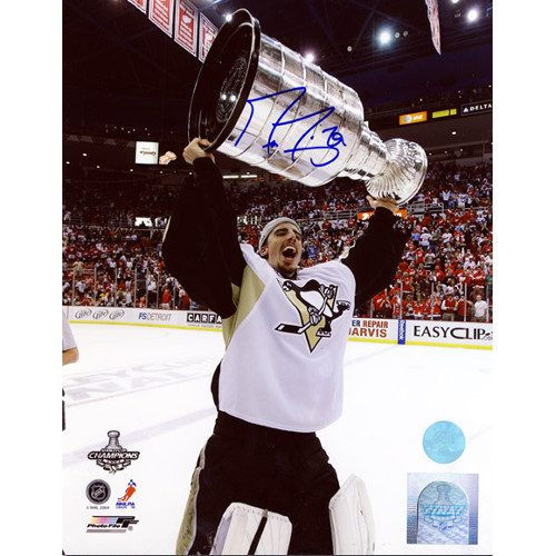 Marc Andre Fleury Cup 2009 Pittsburgh Penguins Signed 8X10