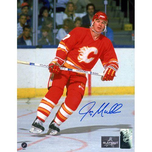 Joe Mullen Calgary Flames Signed 8X10 Photo