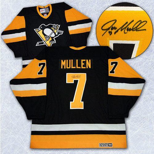 Joe Mullen Pittsburgh Penguins Signed CCM Vintage Style Jersey