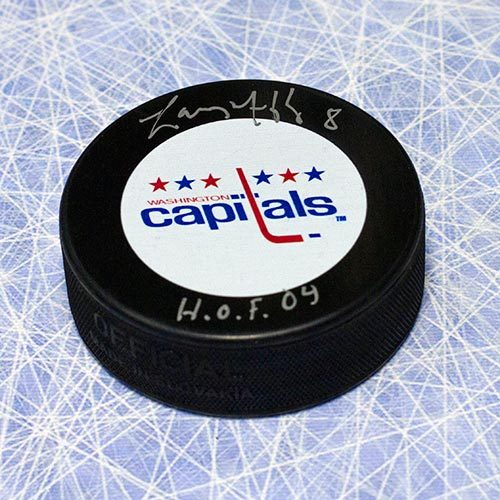 "Larry Murphy Washington Capitals Signed Hockey Puck with ""HOF"""