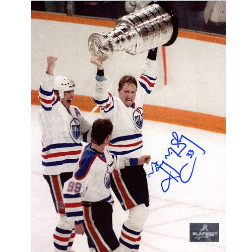 Marty McSorley Signed Edmonton Oilers Stanley Cup 8x10 Photo