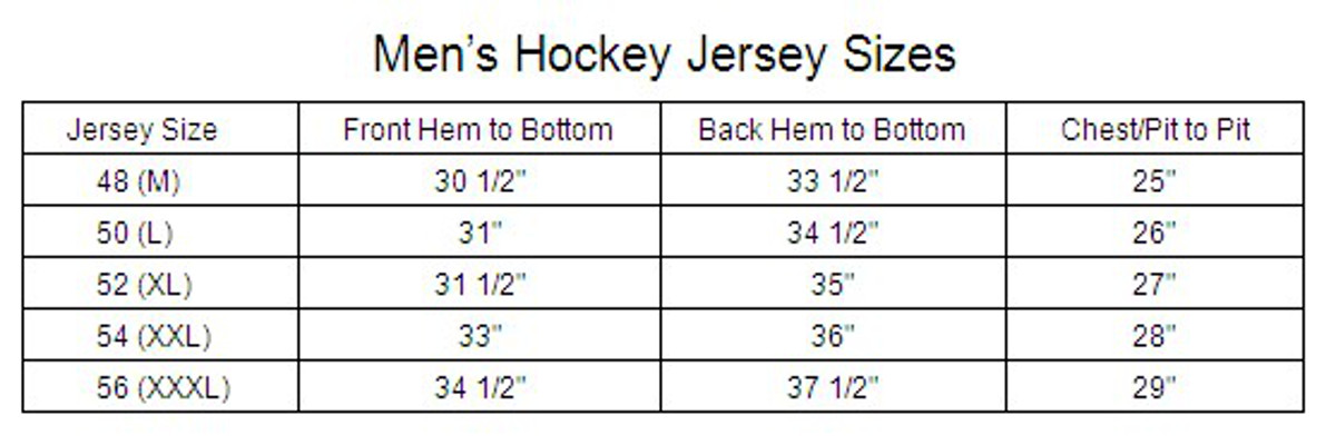 Simple Guide To Jersey Sizing